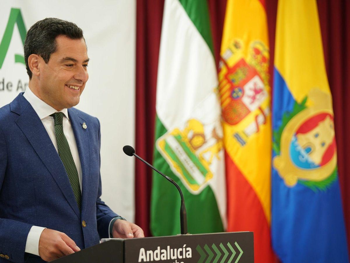 Foto: Juanma Moreno, presidente de la Junta de Andalucía. (EFE)