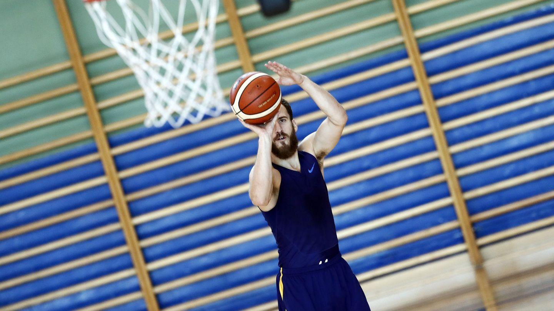 Sergio Rodríguez, uno de los que hace trabajo extra tras los entrenamientos de la selección española de baloncesto. (EFE)