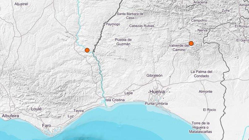 Foto: El epicentro se ha situado a tan sólo 12 kilómetros de Sanlúcar de Guadiana. (IGN)