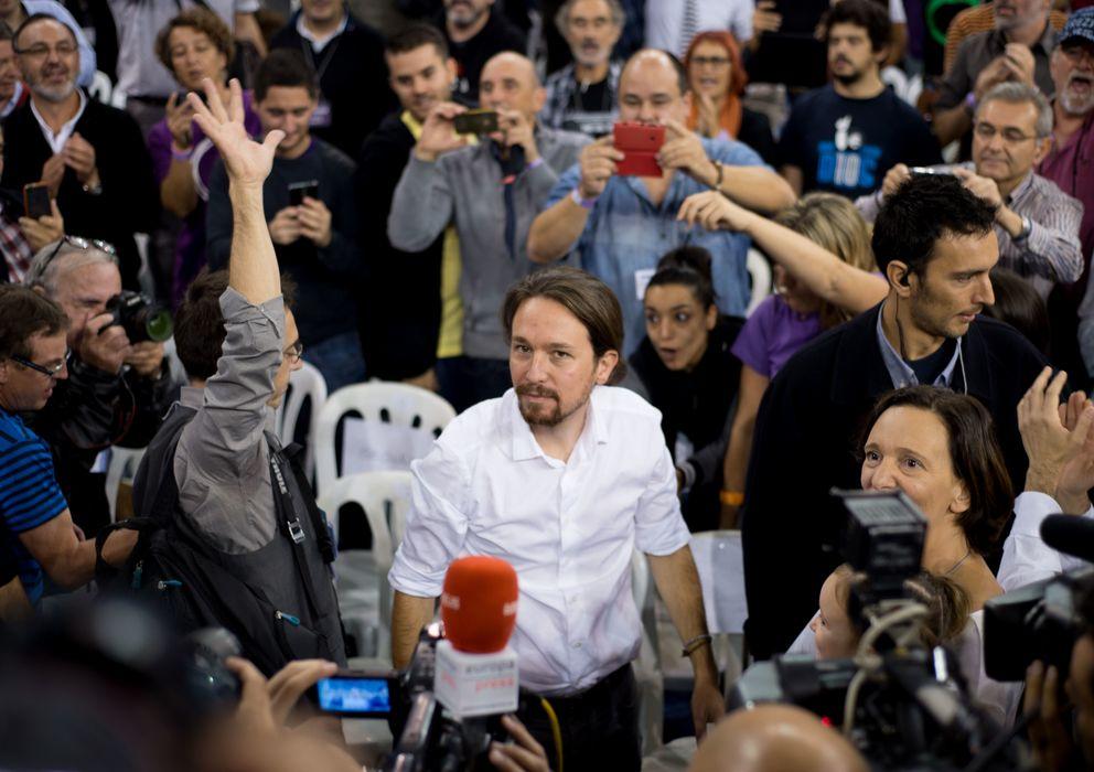 Foto: Los mensajes públicos de Podemos están diseñados para que se adapten fácilmente a distintos formatos y pantallas. (Daniel Muñoz)