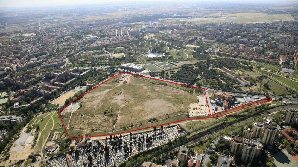 Foto: Vista aérea del solar que albergó la antigua cárcel de Carabanchel.