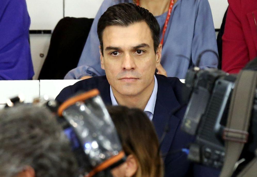 Foto: Pedro Sánchez, durante la última reunión del comité federal, el pasado 28 de diciembre. (EFE)