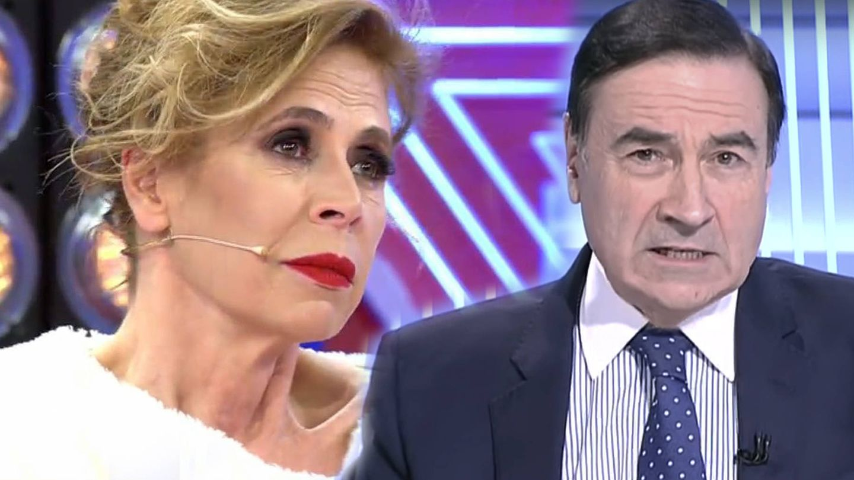 Ágatha Ruiz de la Prada y Pedro J. Ramírez. (Telecinco/RTVE)