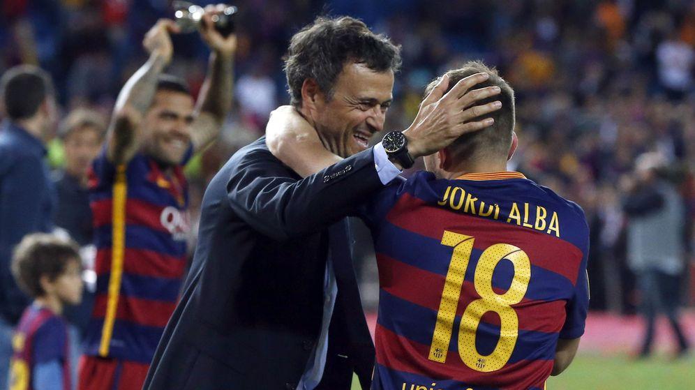 Foto: Luis Enrique dirigió a Jordi Alba en el FC Barcelona durante tres temporadas (2014-2017). (EFE)