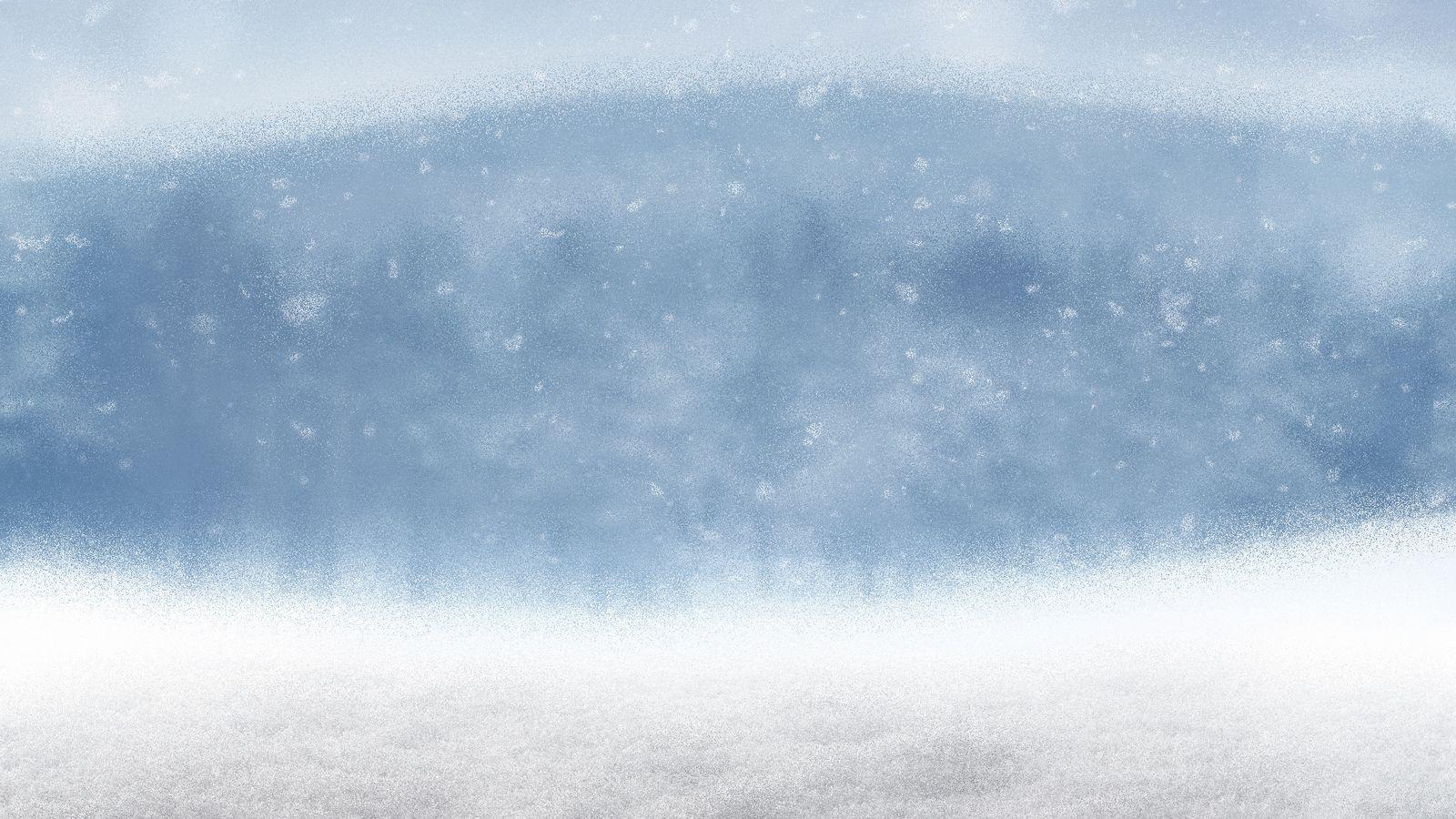 Foto: El tiempo: nieve. (iStock)