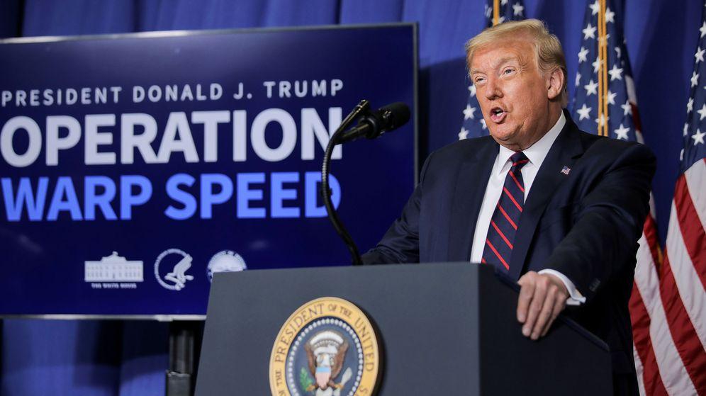 Foto: El presidente Trump en una comparecencia pública esta semana. (Reuters)