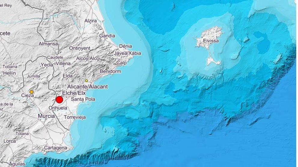 Un terremoto de 4,3 con epicentro en Albatera sacude a varios pueblos de Alicante