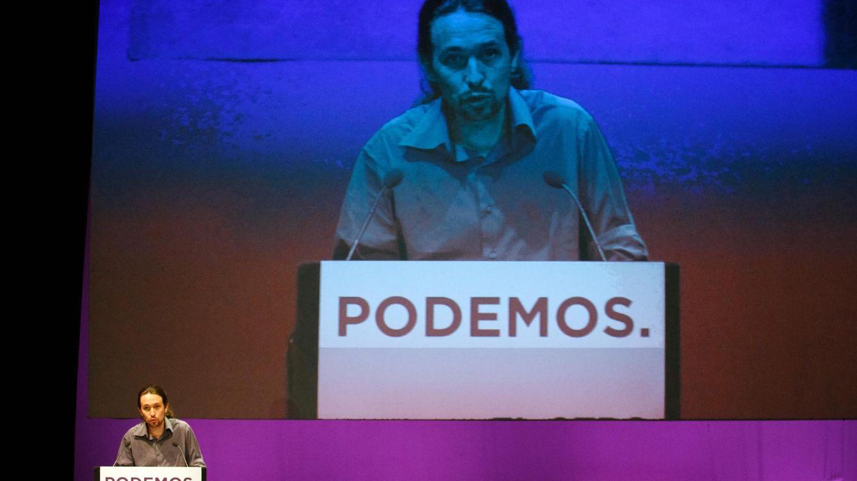 Foto: El líder de Podemos, Pablo Iglesias, durante su discurso. (Reuters)