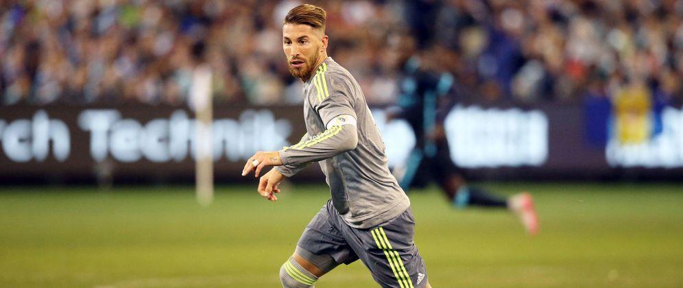 Foto: Sergio Ramos, durante el amistoso que enfrentó a Real Madrid y Manchester City en Melbourne (Reuters)