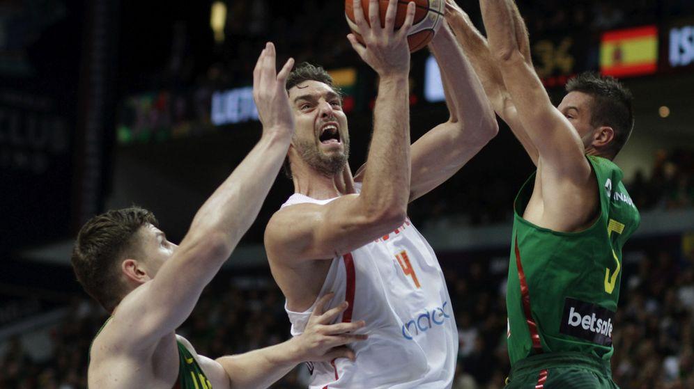 Foto: Pau Gasol quiere su tercer 'MVP' del EuroBasket. (EFE)