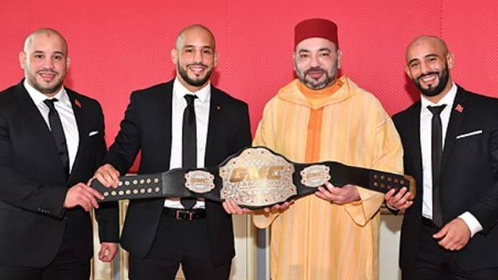 El rey Mohamed VI y su nueva familia: los hermanos Azaitar, tres boxeadores
