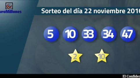 Resultados del sorteo del Euromillones del 22 de noviembre de 2016