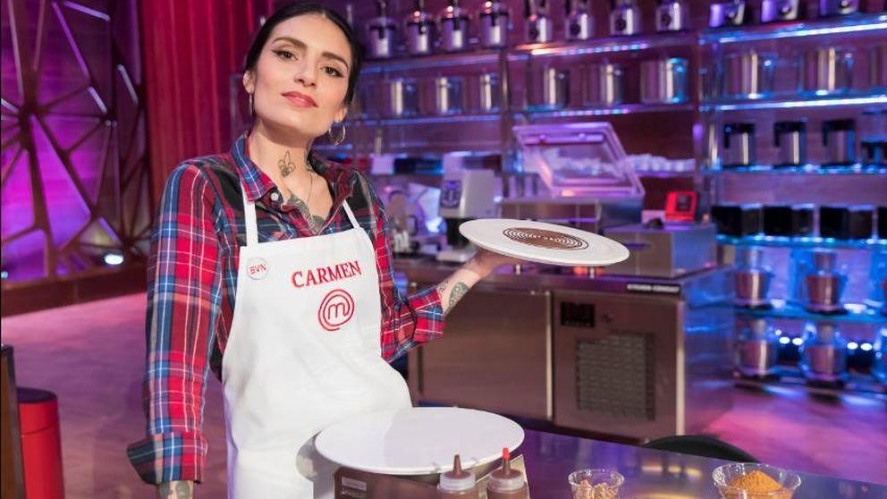 A Carmen se le atraganta la alta cocina: otra vez expulsada de 'Masterchef'