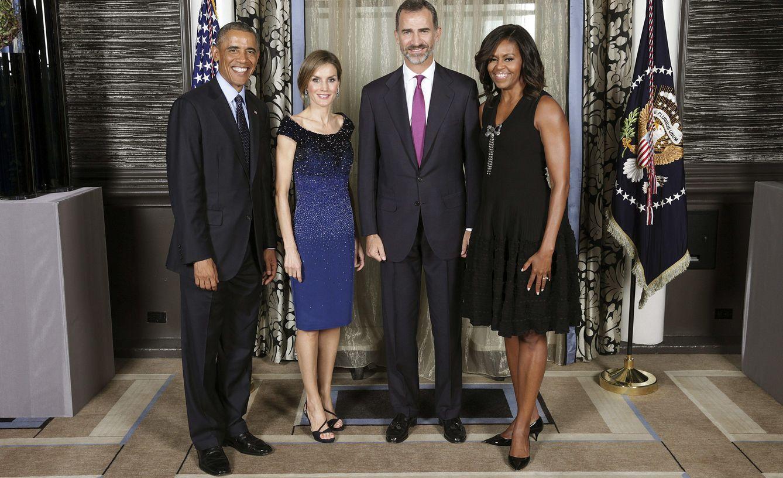 Foto: Los Reyes junto a los Obama en la Casa Blanca