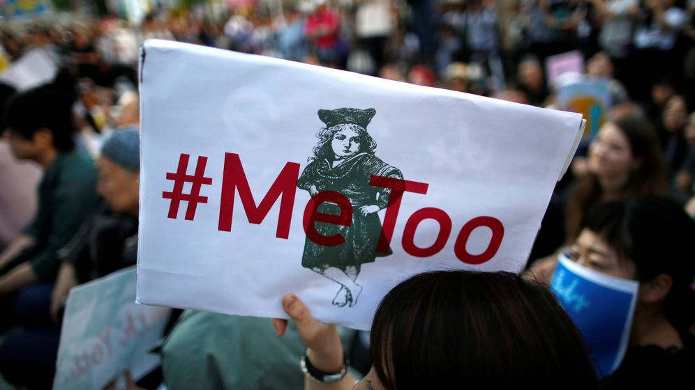 Foto: Una protesta del movimiento #MeToo durante una marcha contra el acoso en Tokio. (Reuters)