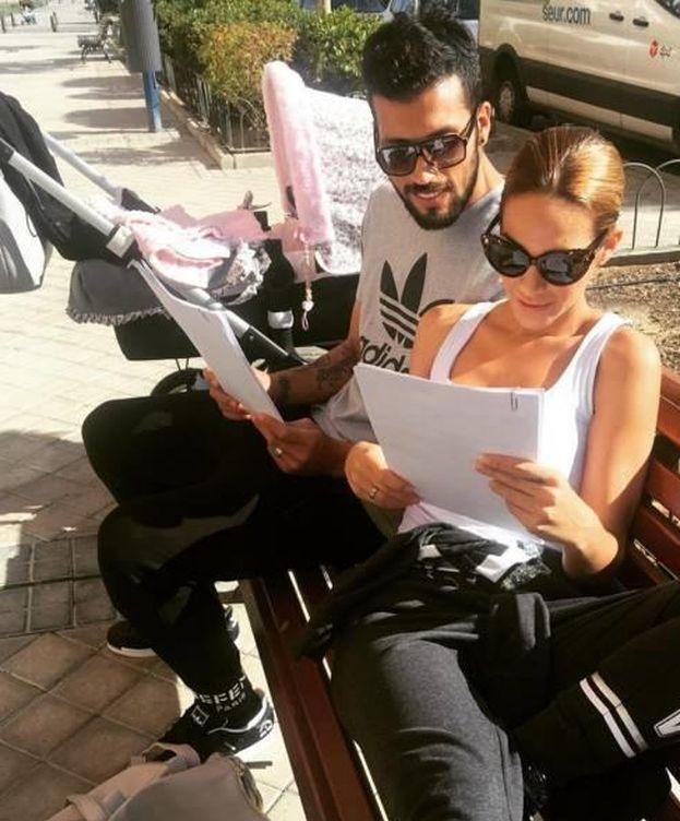 Foto: Tamara Gorro con Ezequiel Garay y su hija Shaila (Instagram)