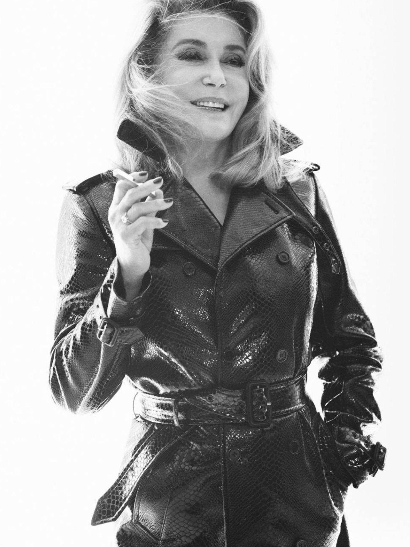 Catherine Deneuve. (Cortesía Saint Laurent)