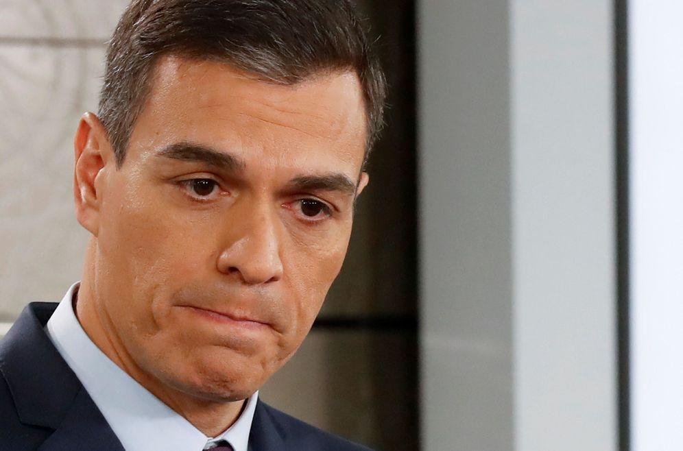 Foto: El presidente del Gobierno, Pedro Sánchez, durante su comparecencia, este viernes. (EFE)