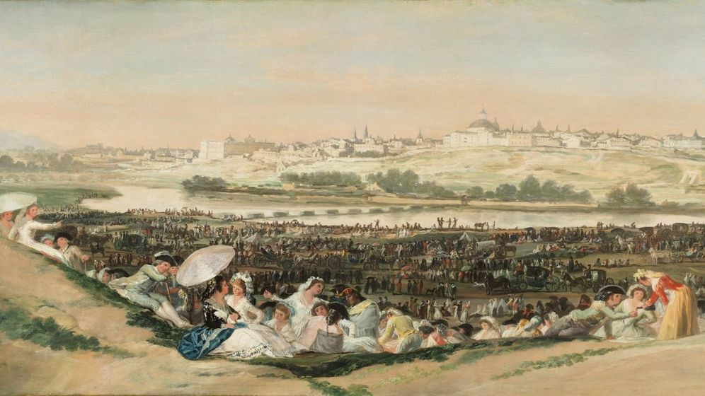 Foto: 'La Pradera de San Isidro', Francisco de Goya.