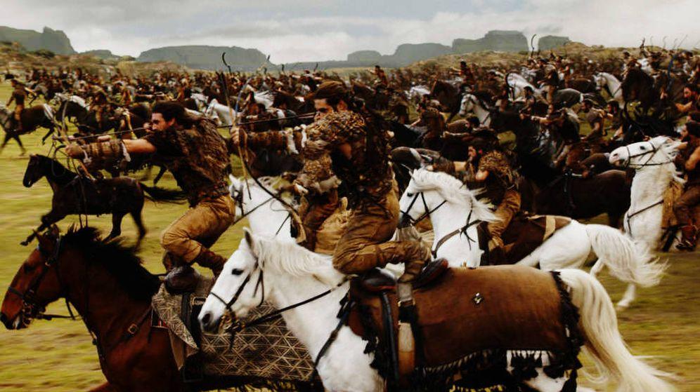 Foto: Cabalgada dothraki en el cuarto episodio de la séptima temporada de 'Juego de Tronos'