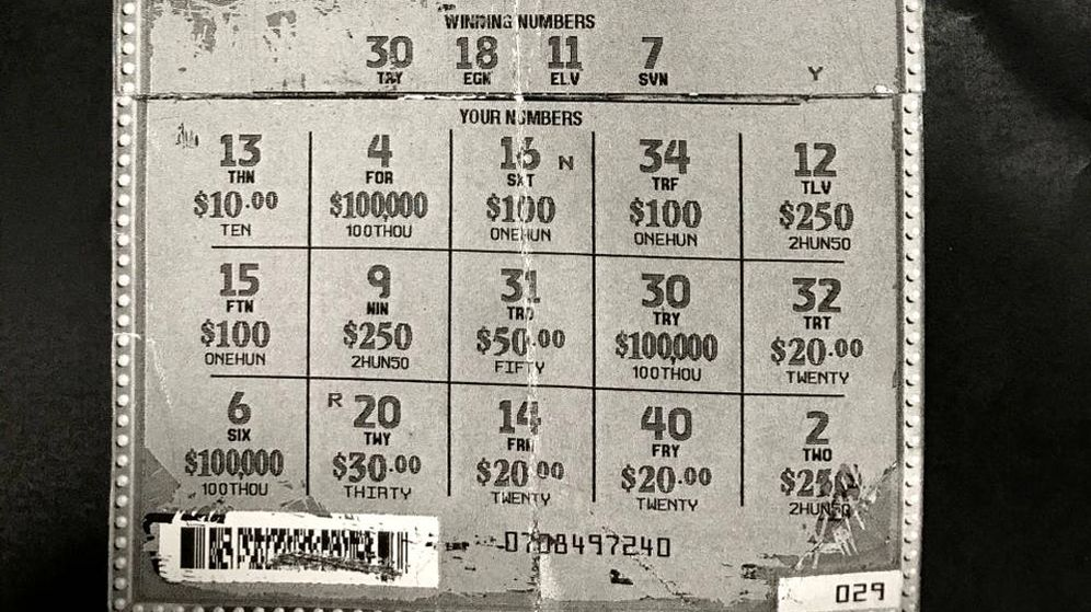 Foto: Cortaron un número de un boleto no premiado y lo pegaron en otro para intentar cobrar 100.000 euros (Foto: Twitter)