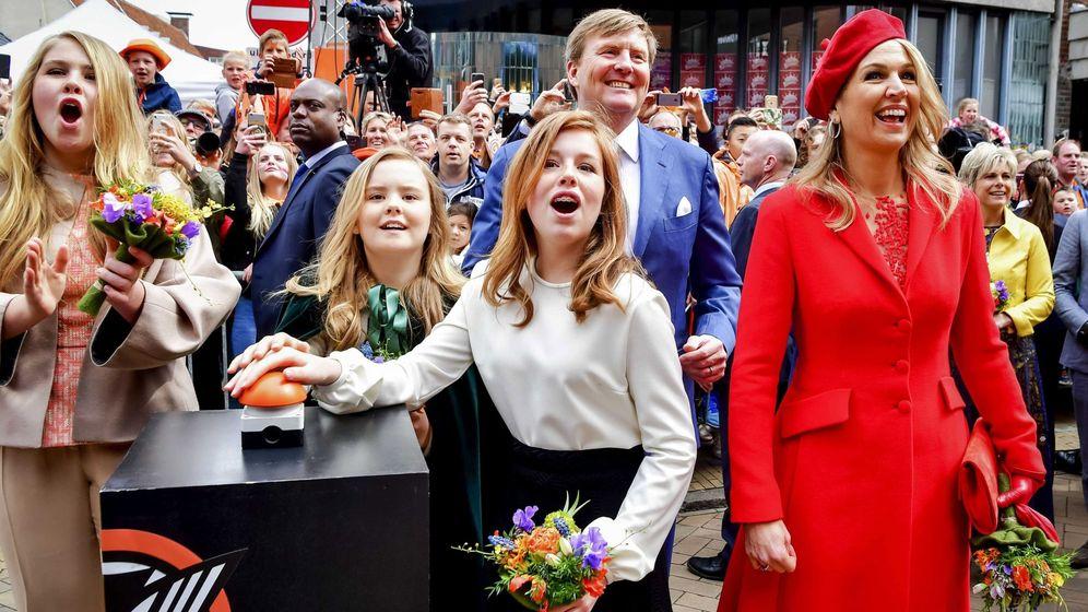 Foto: Alexia, Guillermo y Máxima de Holanda en una imagen de archivo. (EFE)