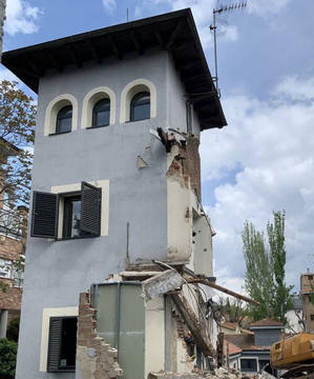 Foto: La casa derribada en López de Hoyos 370.
