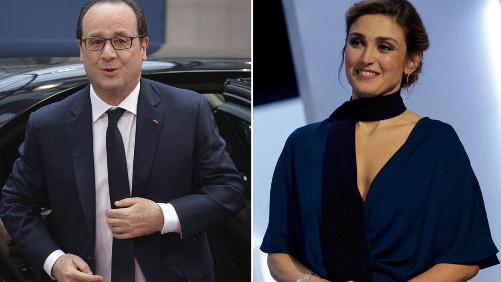 Foto: El presidente francés, François Hollande, y la actriz, Julie Gayet (Efe y Reuters)