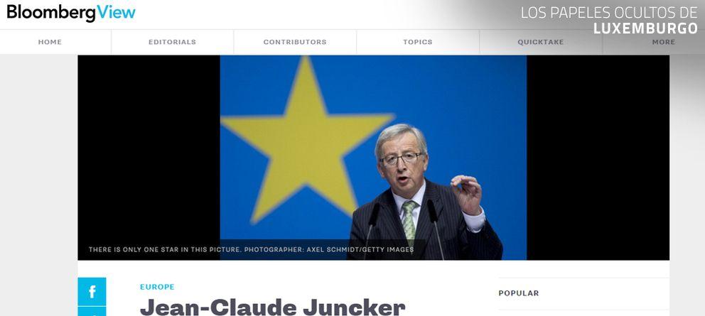 Foto: Bloomberg pide la cabeza de Juncker por el escándalo de los 'papeles de Luxemburgo'