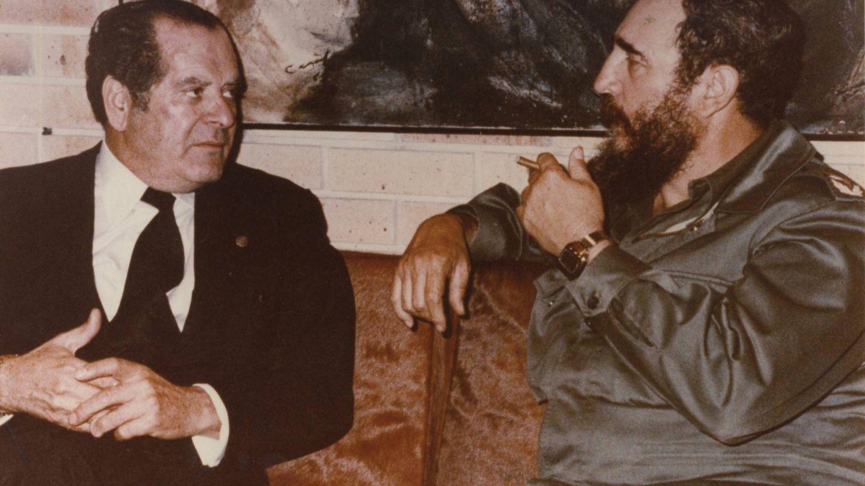 Eduardo Barreiros junto a Fidel Castro en La Habana. (Fundación Eduardo Barreiros)