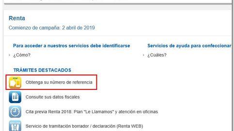 Renta 2018-2019: cómo obtener la referencia del borrador mediante el servicio RENØ y la casilla 475