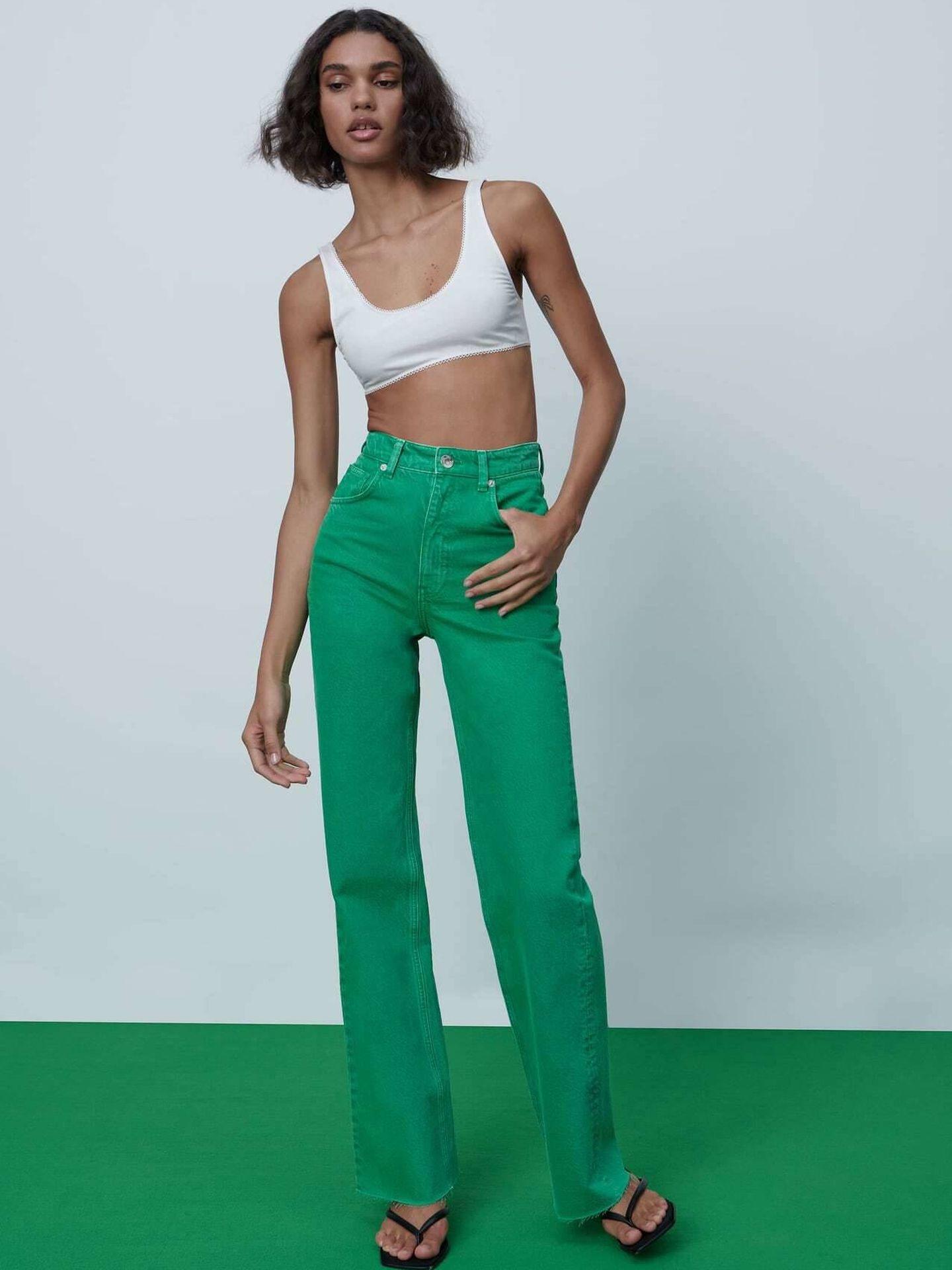 Los nuevos jeans virales de Zara. (Cortesía)