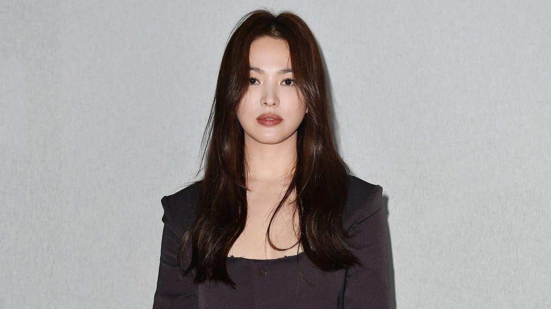 La actriz surcoreana Hye-Kyo Song, en el último desfile de Bottega Veneta. (Getty)