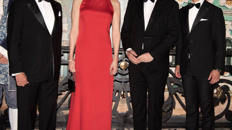 Alberto y Charlène, con Carlos Gustavo y Carlos Felipe de Suecia. (Cordon Press)