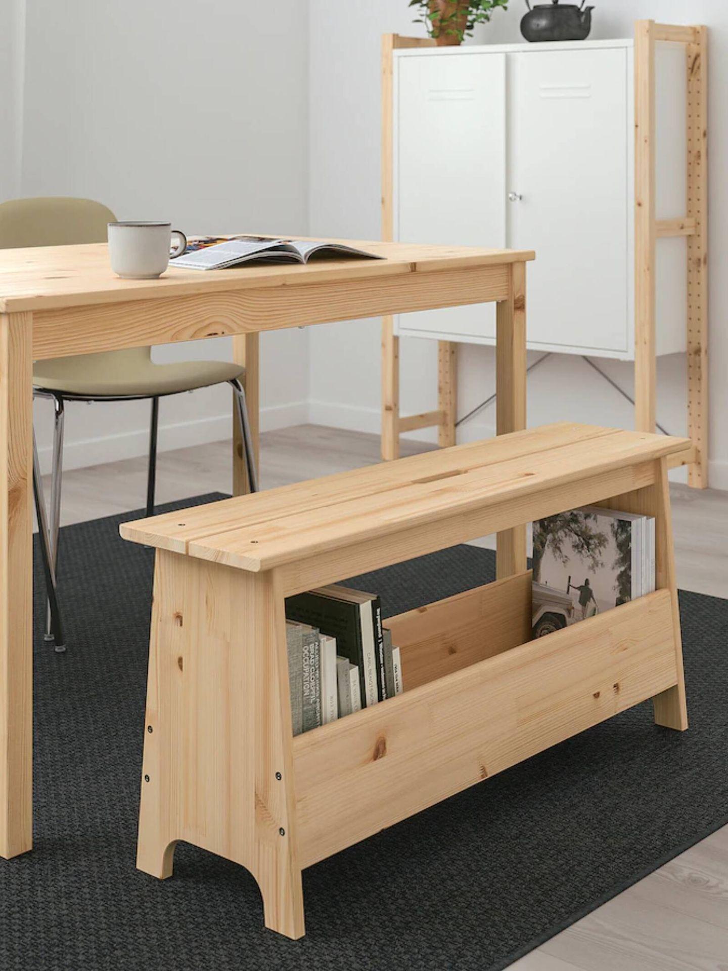 El banco de madera de Ikea ideal para cualquier estancia. (Cortesía)