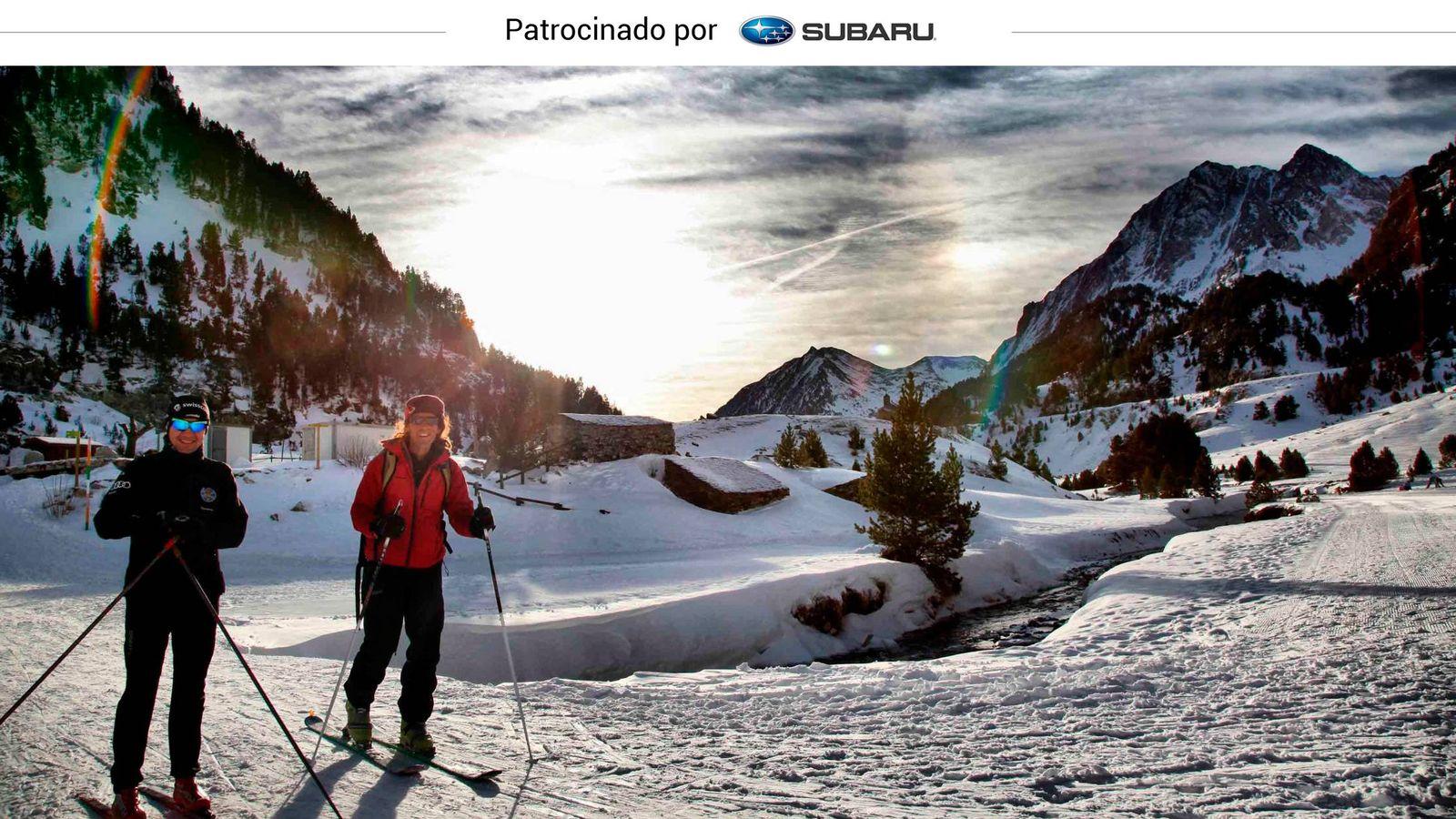 Foto: El esquí de fondo, una opción que gana adeptos día a día