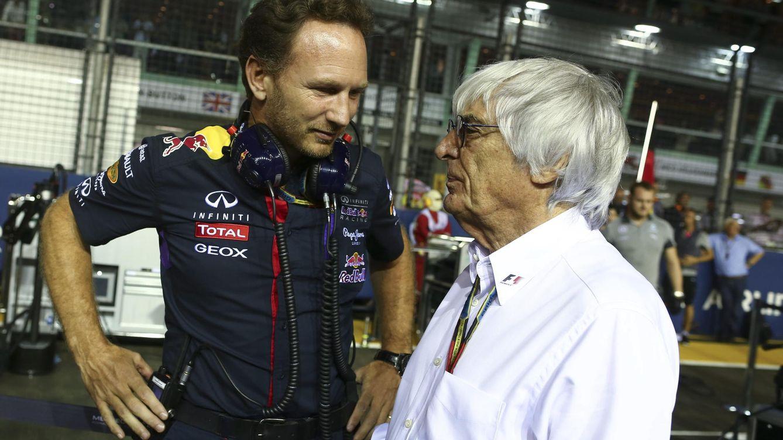 Foto: Christian Horner suele verse apoyado por Bernie Ecclestone (Reuters).