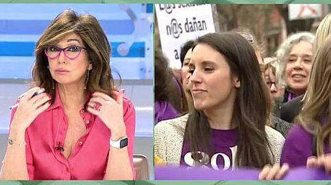 Ana Rosa 'atiza' a Irene Montero por el 8-M: ¡Nadie reparte carnets de feminismo!