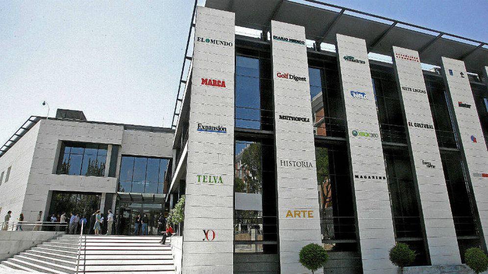 Foto: Sede de Unidad Editorial, en la Avenida de San Luis de Madrid. (EC)