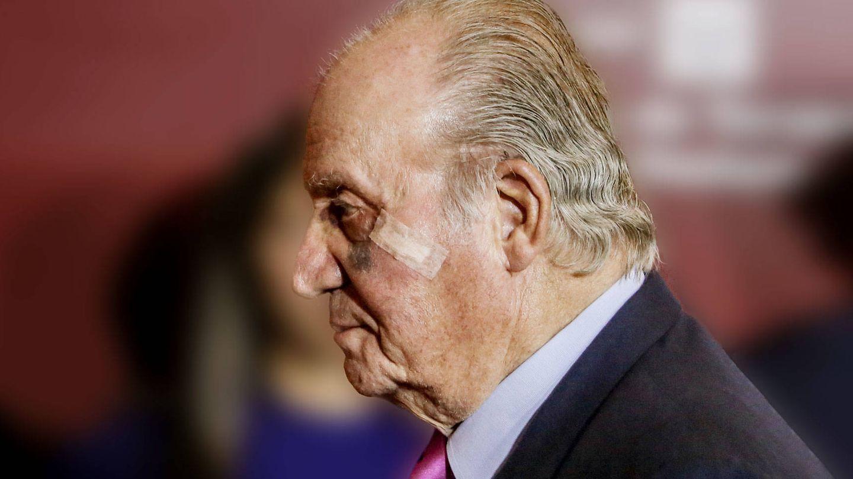 El rey Juan Carlos I, fotografiado en Las Ventas. (Getty)