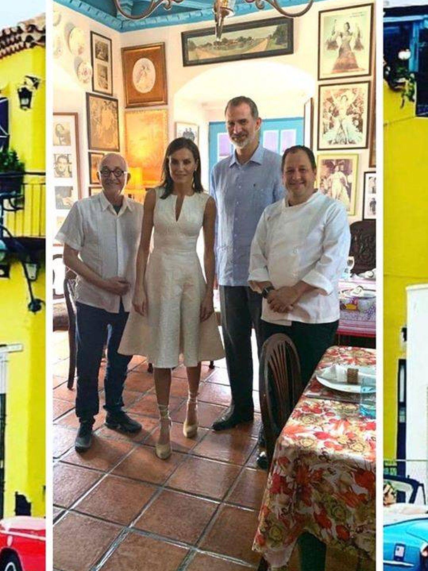 Los reyes Felipe y Letizia junto al chef. (Redes Sociales: @ivanchefsjusto)