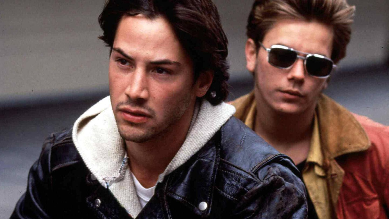Con Keanu Reeves en 'Mi Idaho privado', de 1990. (CP)