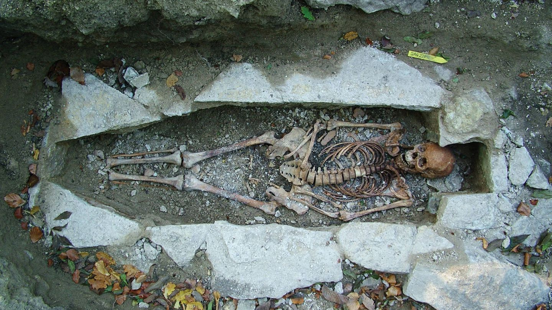 Uno de los esqueletos analizados. Foto: Universidad de Copenhague