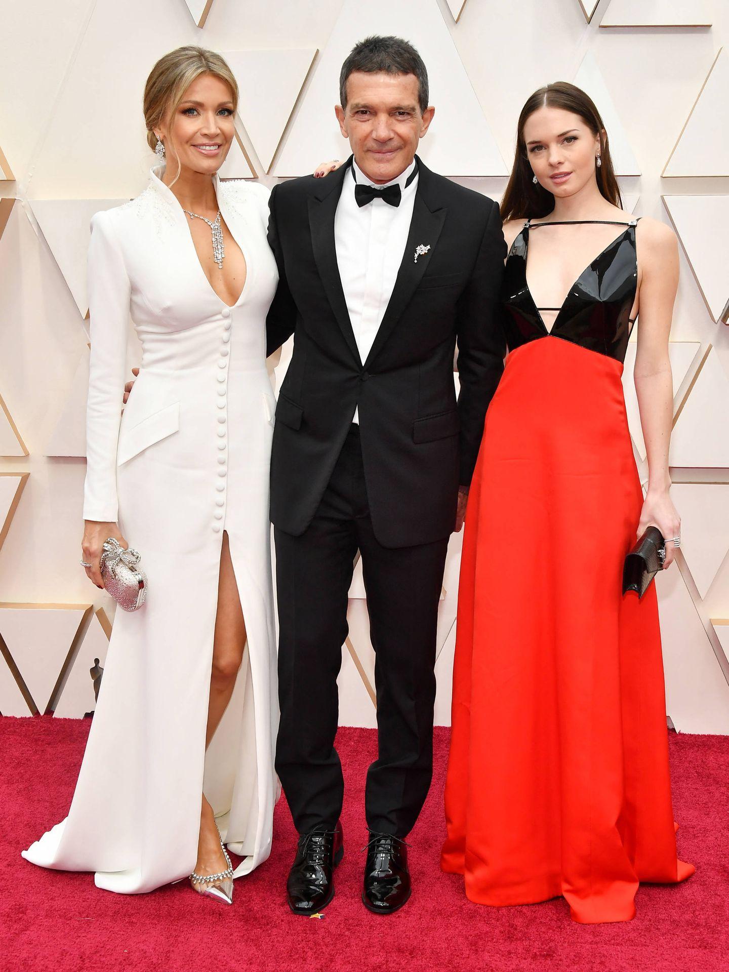 Nicole Kimpel, Antonio Banderas y Stella Banderas (Getty)