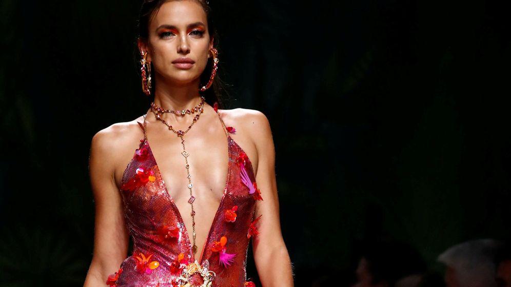 Foto: Irina, en el desfile de Versace primavera-verano 2020 en Milán. (Reuters)