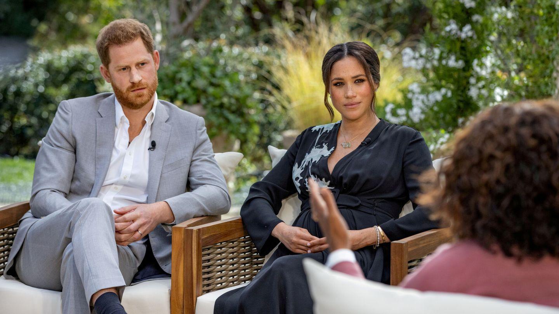 Los Sussex durante su entrevista con Oprah Winfrey. (Reuters)