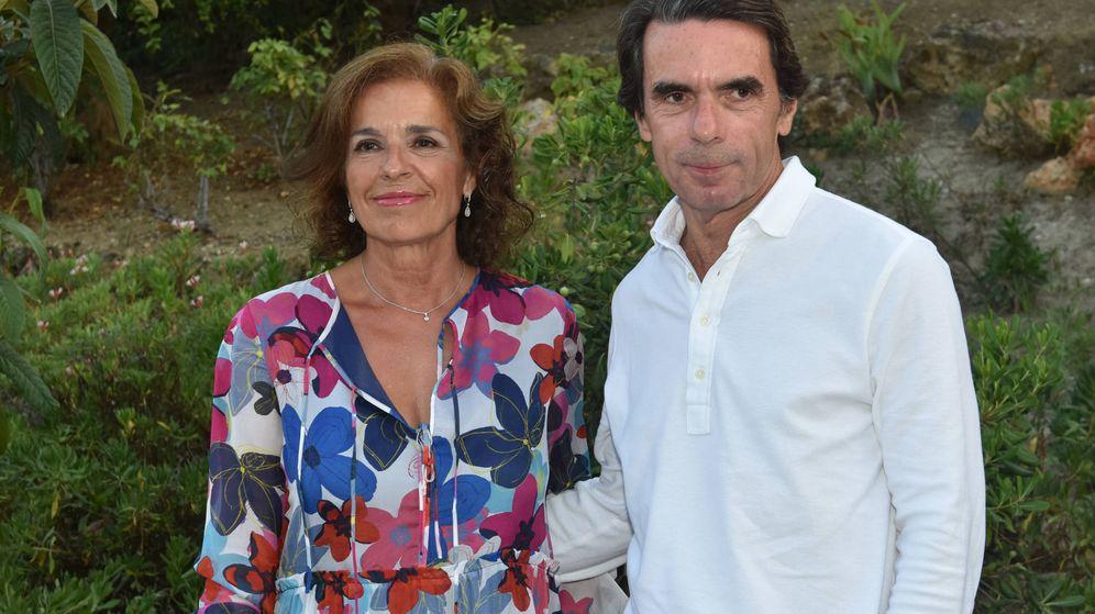 Foto: Ana Botella y José María Aznar durante este verano.