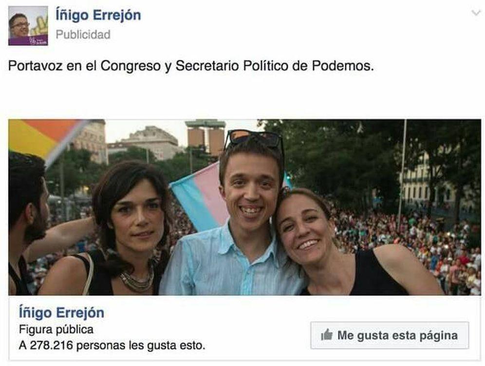 Foto: Campaña de publicidad de Íñigo Errejón en Facebook