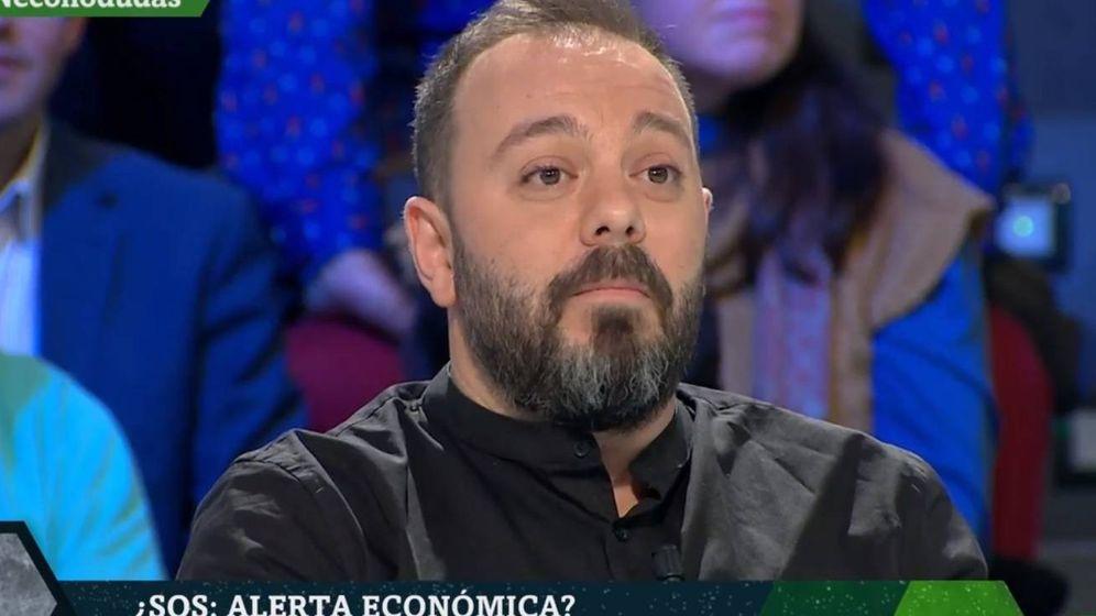 Foto: Antonio Maestre, en el plató de 'La Sexta noche'. (Atresmedia).