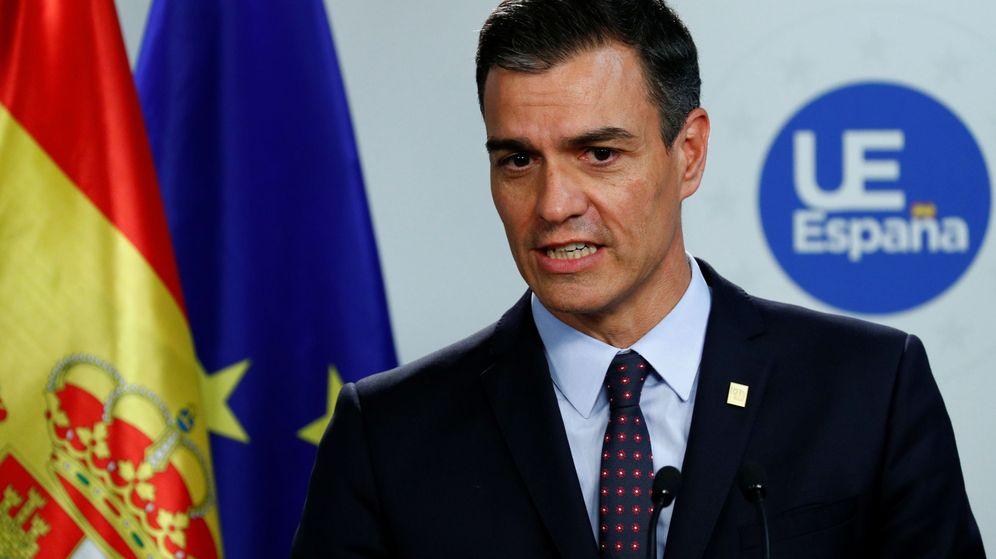 Foto: Pedro Sánchez, este 2 de julio durante su rueda de prensa en Bruselas. (Reuters)